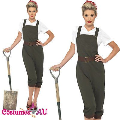 #Ladies ww2 land girl #costume world war 2 wartime outfit 40s army #fancy dress,  View more on the LINK: http://www.zeppy.io/product/gb/2/271910093194/