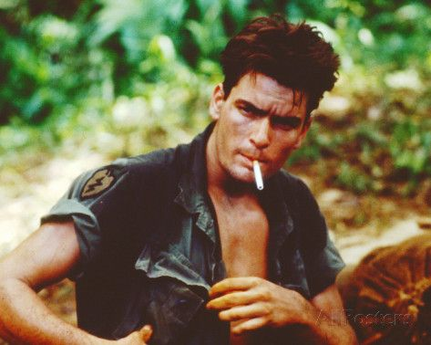 Charlie Sheen (I know...) - Platoon Photographie