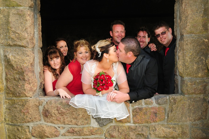 Wedding kiss...a derelict stone building in Christchurch New Zealand  www.ForeverYoungPhotography.co.nz