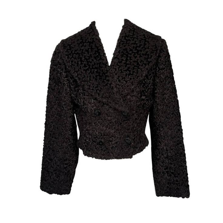 Alaia Faux Fur Astrakhan Jacket | From a collection of rare vintage jackets at https://www.1stdibs.com/fashion/clothing/jackets/