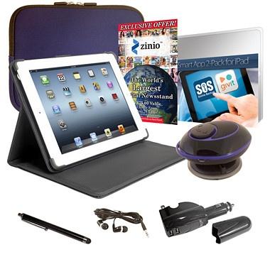 #ilovetoshop Apple 64GB Wi-Fi 4th Generation iPad Bundle with Retina Display - White - BLUE