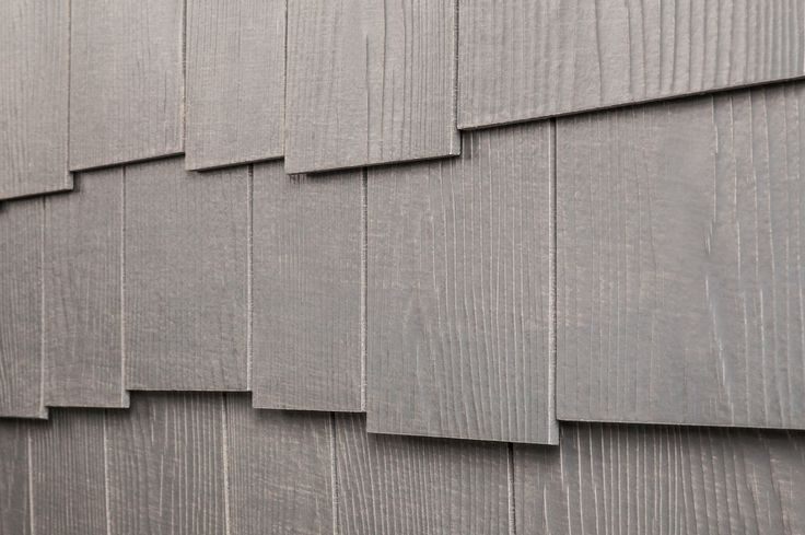 "Fiber Cement Siding - Rustic Shingle Panels - Weathered Gray / Cedar Staggered Edge 1/4""x16""x4'"