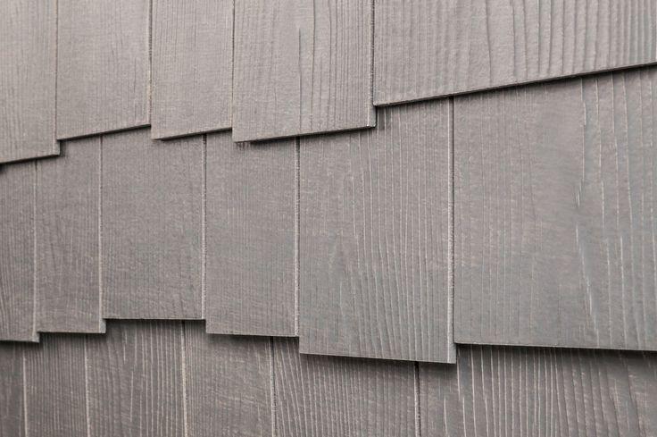 "Fiber Cement Siding - Rustic Shingle Panels - Weathered Gray / Cedar Staggered Edge 1/4""x16""x4'"