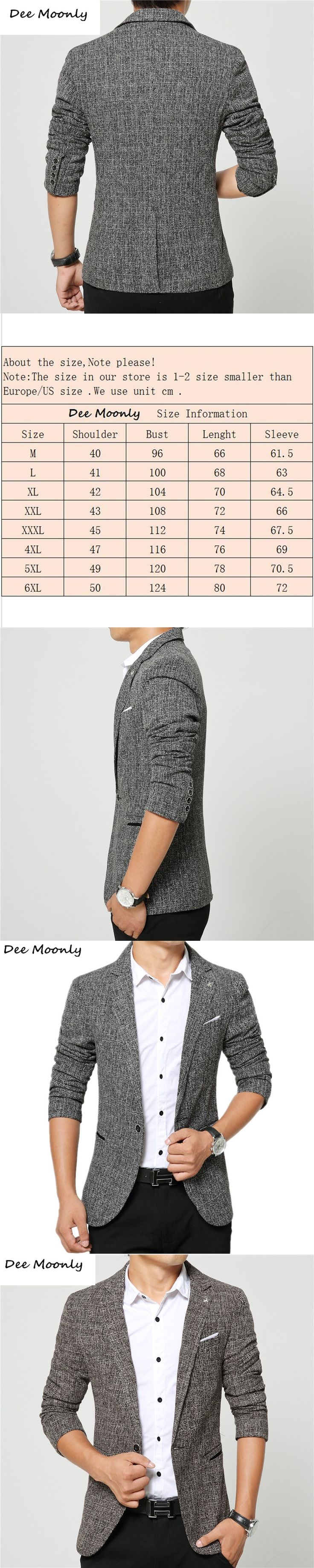 DEE MOONLY 2017 Men Blazer New Suit Men 3 Colors Casual Jacket Terno Masculino Latest Coat Designs Blazers Men Clothing M-4XL