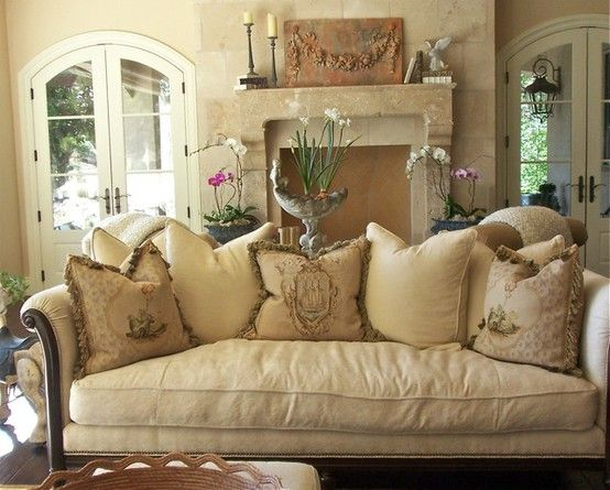 French Country living room Decorating Ideas | ... For Design: The White Album - Decorating in the French Country Style