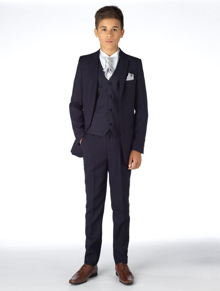 Shop for the navy William tail suit with a choice of 12 cravat colours at Roco. Perfect as a boys wedding suit with free UK delivery & 30 day returns.