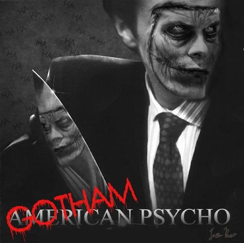 Joker x Christian Bale | Gotham Psycho | Fan edit of the American  Psycho movie poster