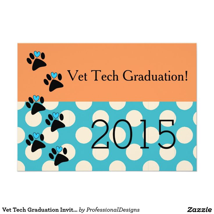 24 best invites images on pinterest invites graduation and vet tech graduation invitations orange and blue stopboris Images