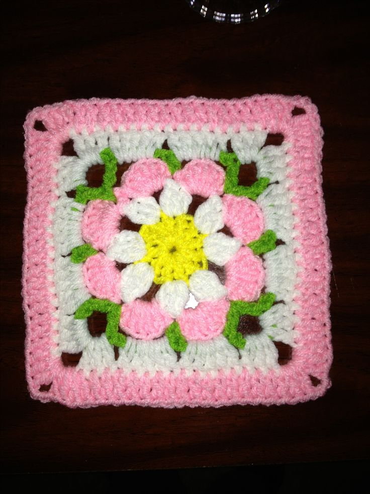 Flower granny square - another adorable 'trivet' for playtime....