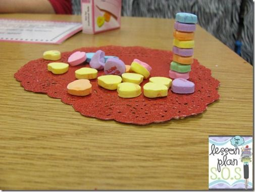 Build A Tower Of Candy Hearts Then Measure Great