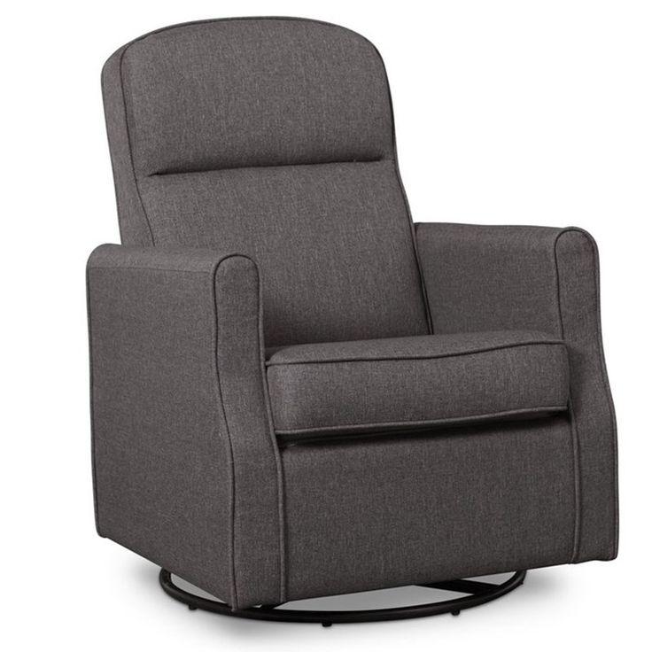Delta Children Blair Slim Nursery Glider Swivel Rocker Chair in Charcoal 311284161