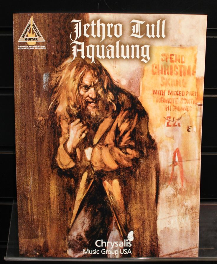 Jethro Tull Aqualung Guitar Recorded Versions TAB Songbook