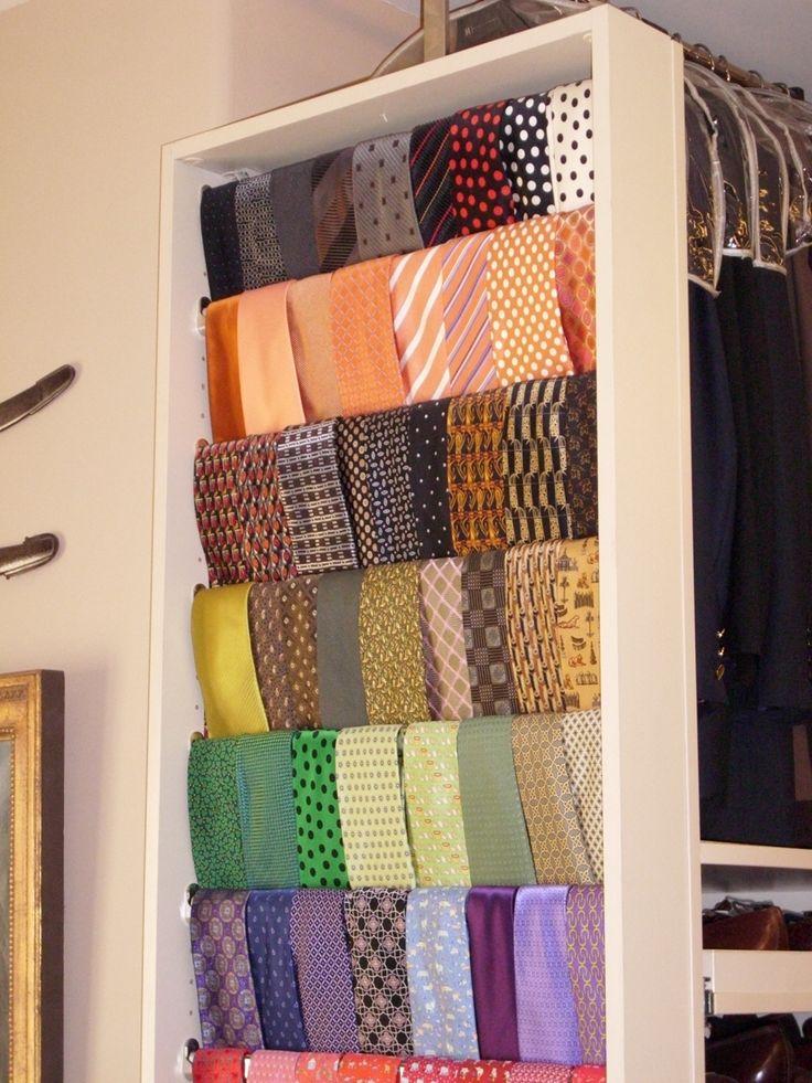 Neat Tie Hanger For My Men.
