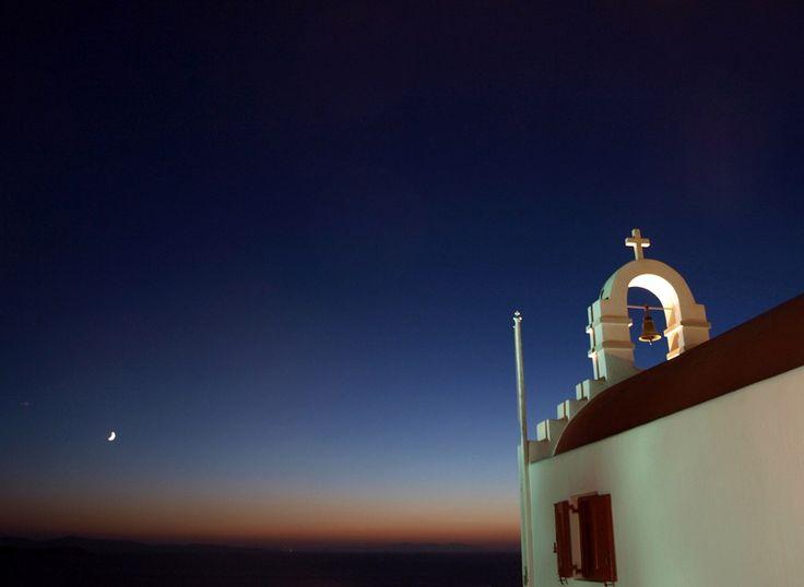 Εκκλησία κατά το ηλιοβασίλεμα.