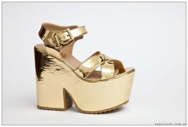 JOW calzados – sandalias doradas verano 2015