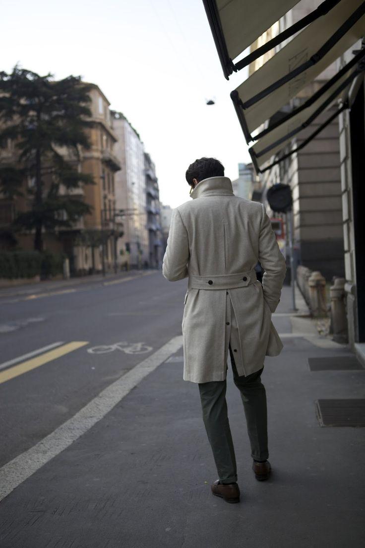 """Sixth picture in Fabio Attanasio's blog post """"MERANO COAT"""". Model: Fabio Attanasio."""