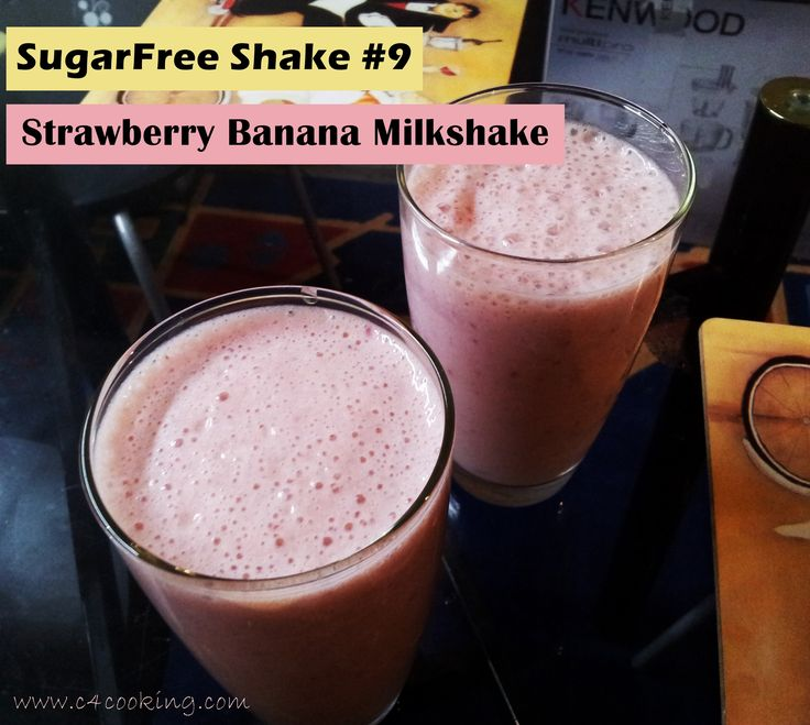 SugarFree Shake #9 - Strawberry Banana Milkshake