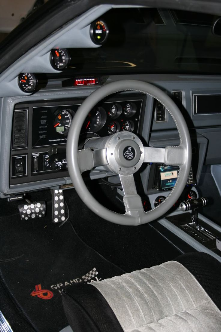 Interior driver side interior shot of my 1986 Buick Grand National.