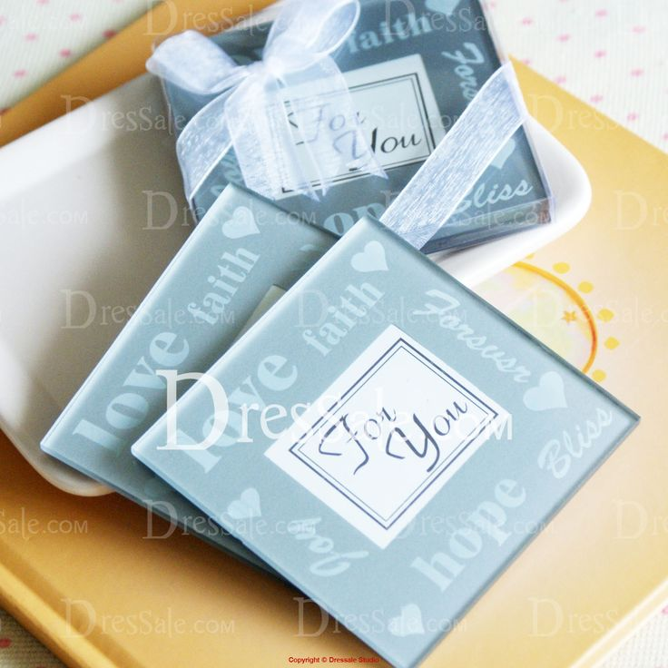 Bridesmaids Party Gifts Good Wishes Pearlized Coasters Find This Pin And More On Projects To Try By Erikabrownlee Square Shaped Glass Coaster Favor