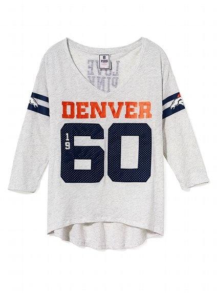Denver Broncos Three Quarter Sleeve Drapey Tee - Victoria's Secret PINK® - Victoria's Secret: Drapey Tees, Sleeve Tees, Denver Sweatshirts, Broncos Three, Denver Broncos, Broncos Tees, Pink Broncos, Tees Victoriassecret, Women Clothing