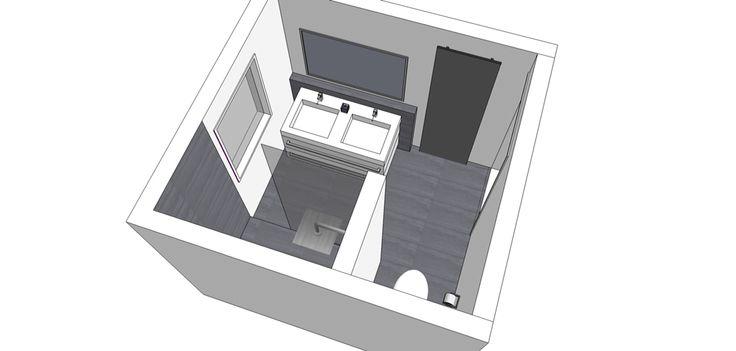 3D Ontwerp Badkamer www.look-inside.nl
