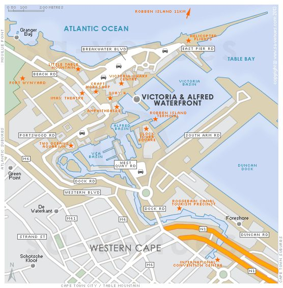 V&A Waterfront Map