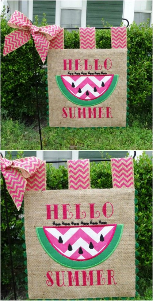 These DIY Garden Flags Are A Cinch To Make! #4 Is So Cute And So Clever!