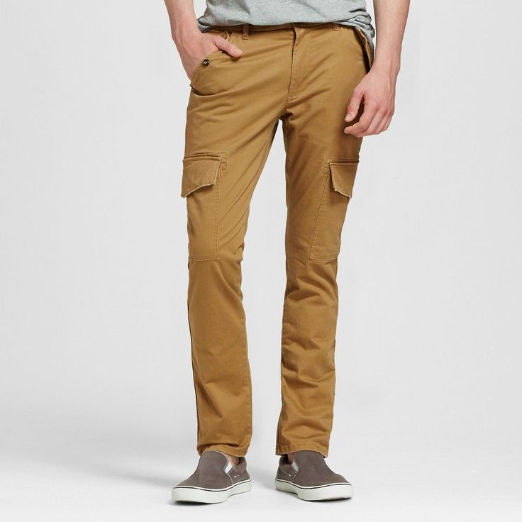 Men's Cargo Pants Khaki 36x32 - Mossimo Supply Co., Brown