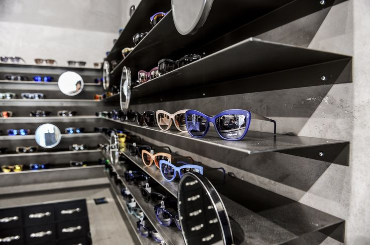 Up close and personal with our new sunglasses range display in our new store in Milan