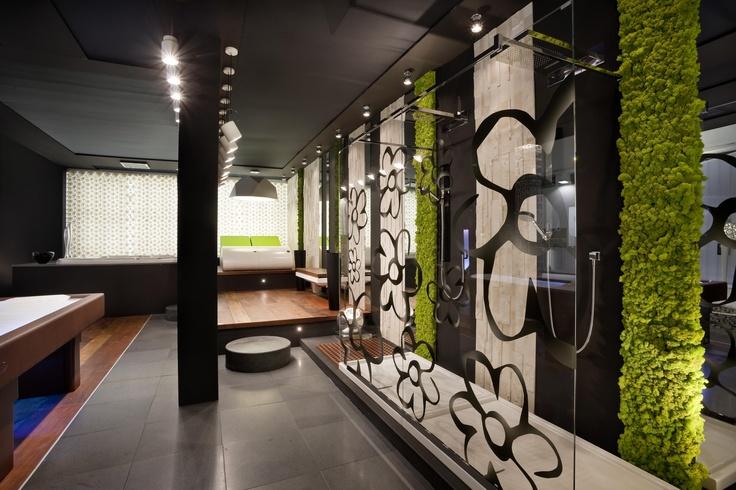Proyecto Hoteles, revestimiento jardin vertical Mosswall. Diseño para oficinas, restauración, hoteles y contract. (Espacio Aretha partner contract)