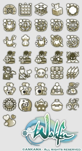 Wakfu MMORPG exploits icons