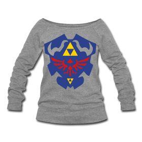 Hylian Shield Womens Wide Neck Sweatshirt. Want.