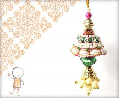 Lumba Rakhi - Send Online #Lumba #Rakhi – online rakhi. Traditional Multi-color Zardosi Lumba, surprise  your loved ones with roli chawal, chocolates and a greeting card as it is also a part of our package and that too without any extra charges. http://www.bablarakhi.com/