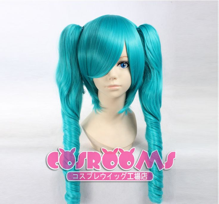 VOCALOID MIKU Cosplay Double Ponytails Wigs #cosplaywig #mikucosplay