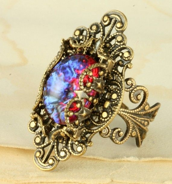 Fire+Opal+Ring+Dragons+Breath+Ring+Mexican+by+ForTheCrossJewelry,+$32.00