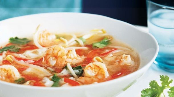 Soupe asiatique aux crevettes #IGA #Recettes #Potage #Soupe