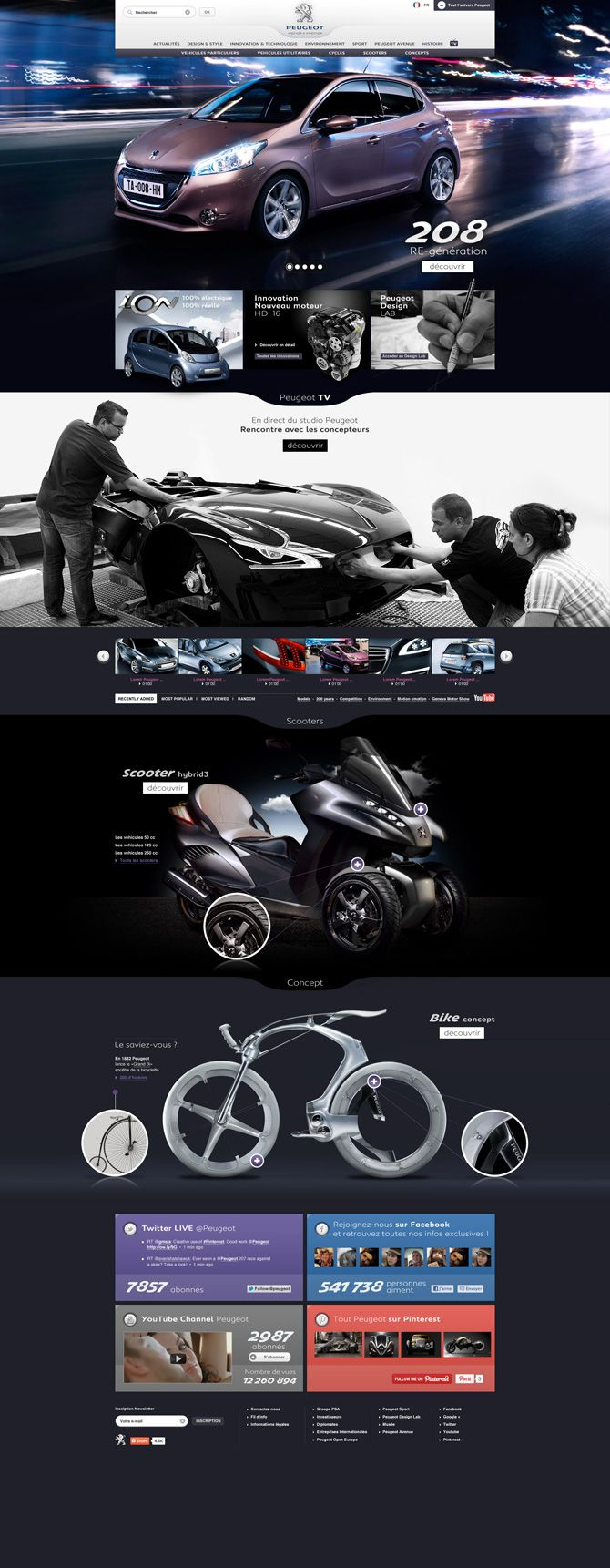 Peugeot - Pf - Interactive Art Direction Please like, share and repin. Cheers! :)