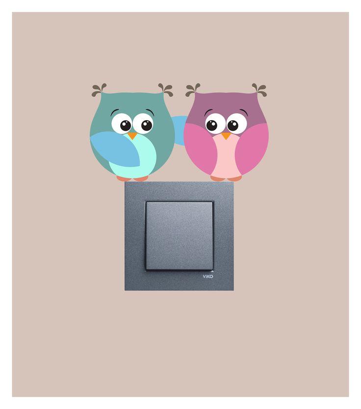 Sevimli baykuşlar priz sticker..  Ürüne ulaşabileceğiniz adres : http://www.artikeldeko.com.tr/dp-1187-priz-sticker-19819  #dekor #dekorasyon #dekoratif #artikeldeko #evdekorasyonu #dekorasyonfikirleri #sticker #duvarsticker #priz #pirzsticker #baykuş #bird #kuş #sevimli #tatlı #şeker