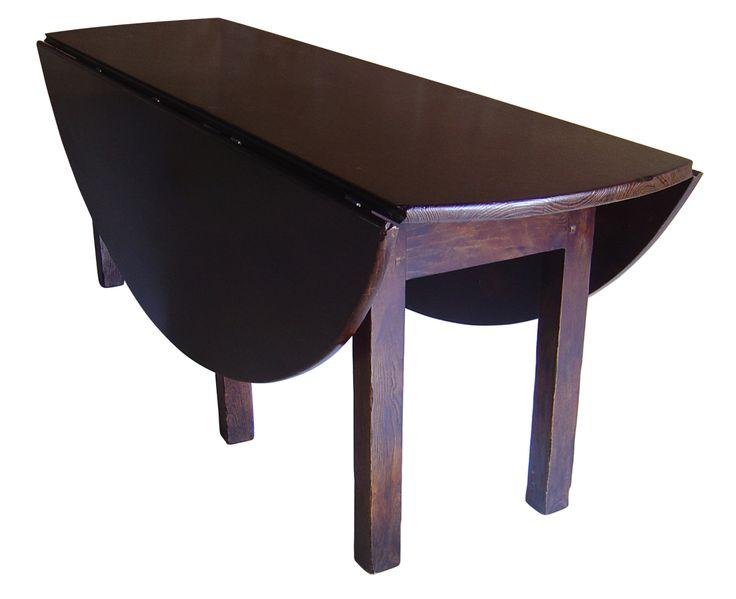 Oval Irish Wake Table. Dark Oak stain.
