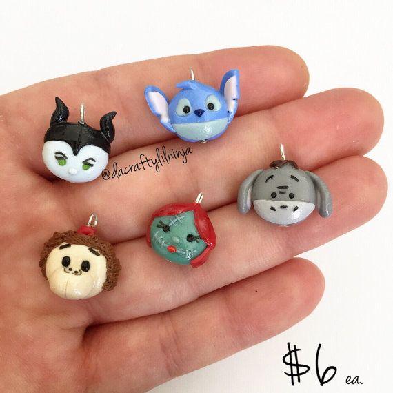 Tsum Tsum Phone or Bracelet Charm Polymer Clay by DaCraftyLilninja