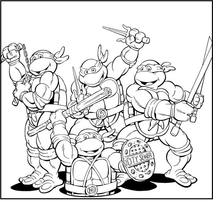 31 best Teenage Mutant Ninja Turtles images on Pinterest | Coloring ...