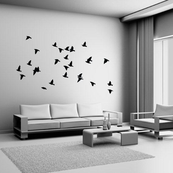 Flock of Birds Wall Decal Vinyl Sticker Dining Bedroom Living Room. $24.99, via Etsy.