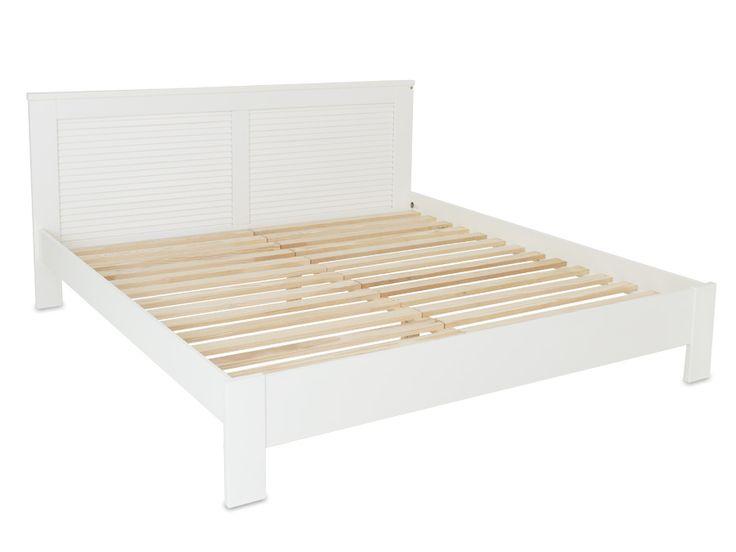 Cama king size riviera branco laqueado quarto de casal for Ancho cama king size