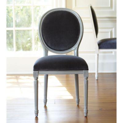 Oval Louis Side Chair COM Lacquer | Ballard Designs
