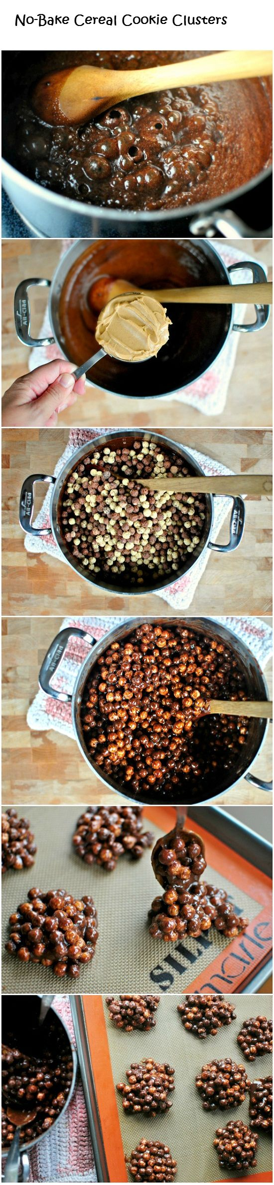 No-Bake Cereal Cookie Clusters - DIY Ideas 4 Home