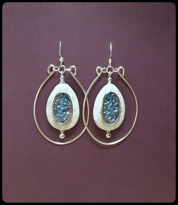 Check out this item in my Etsy shop https://www.etsy.com/listing/601849465/large-boho-earrings-blue-teardrop