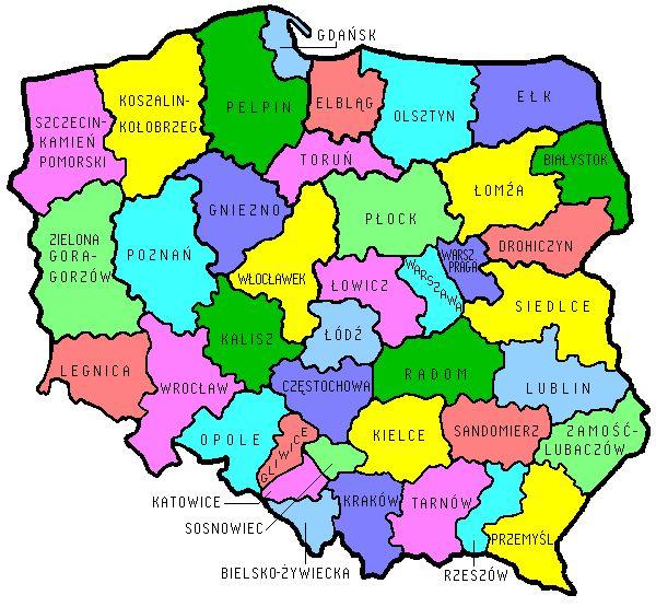 Diocesan Boundaries in Poland