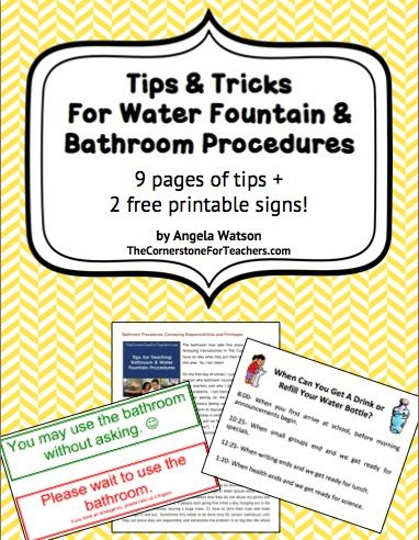 Great tips for teachers - procedures for using the bathroom and getting drinks