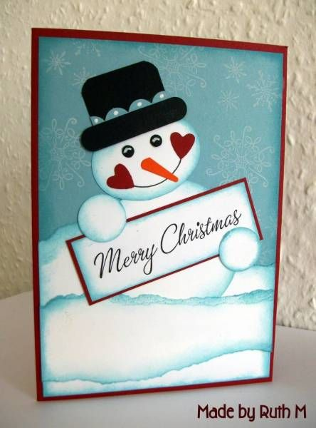 Punch Art Snowman Merry Christmas Card: Christmas Cards, Cards Ideas, Papercraft Cardsvinyl, Cards Christmas, Flowers Sparkle, October 2010, Handmade Cards, Punch Art, Snowman Cards