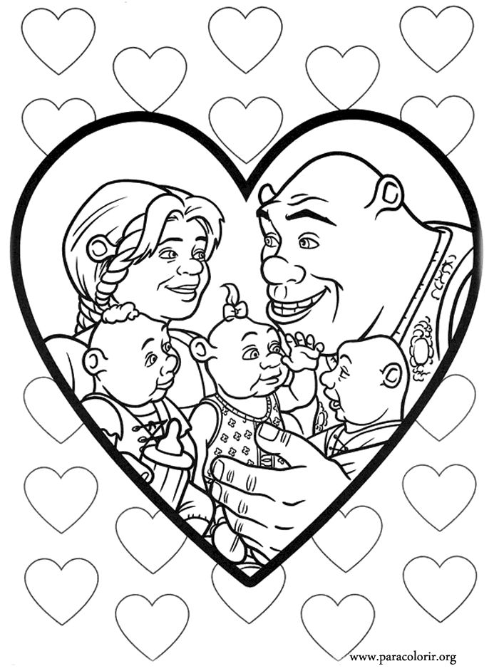 shrek forever after coloring pages - photo#26